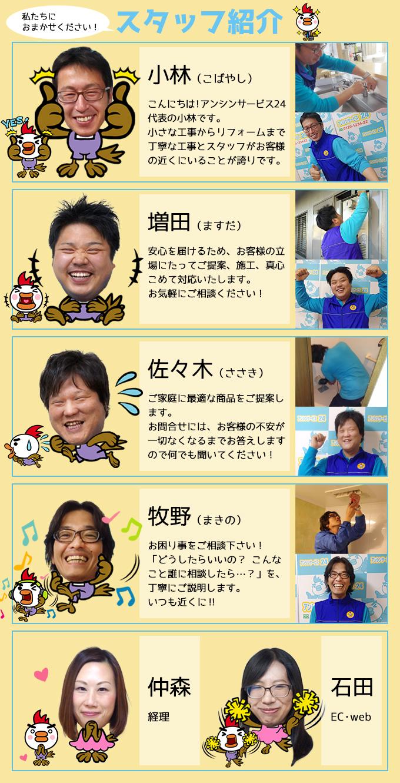 アンシンサービス24スタッフ紹介